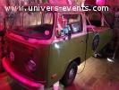 Cabine deejay DJ Volkswagen combi