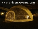 Chapiteau dôme géodésique