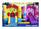 Location châteaux gonflables,flammes virtuellles,mascottes