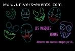 masques neons halloween